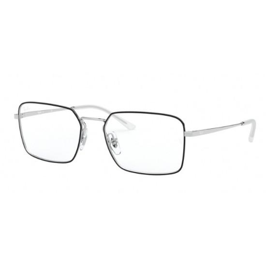 Ray-Ban RX 6440 - 2983 Top Nero Su Argento | Occhiale Da Vista Unisex