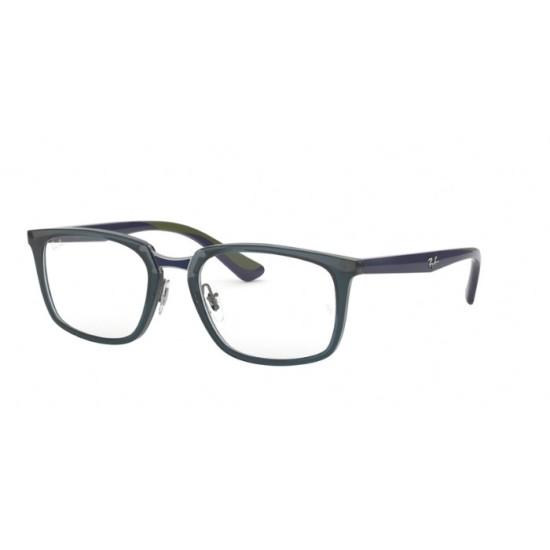 Ray-Ban RX 7148 - 5796 Blu Scuro Trasparente   Occhiale Da Vista Uomo