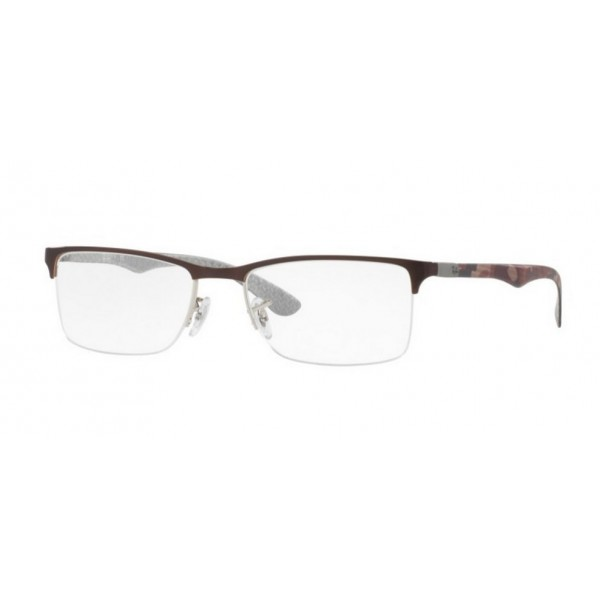 Ray-Ban RX 8413 2892 SILVER ON BROWN
