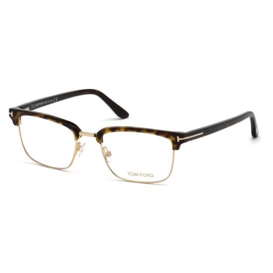 Tom Ford FT 5504 - 052 Avana Oscura   Occhiale Da Vista Uomo