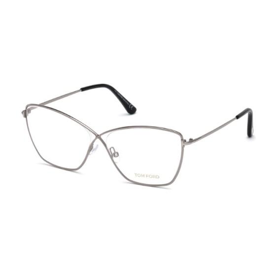 Tom Ford FT 5518 - 014 Brillante Rutenium Chiaro   Occhiale Da Vista Donna