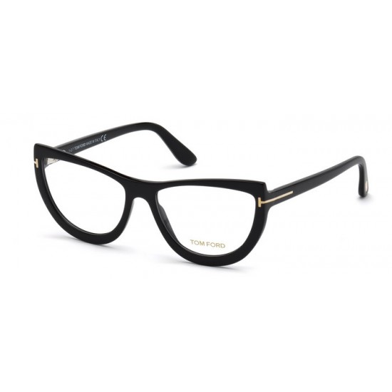 Tom Ford FT 5519 - 001 Nero Lucido   Occhiale Da Vista Donna