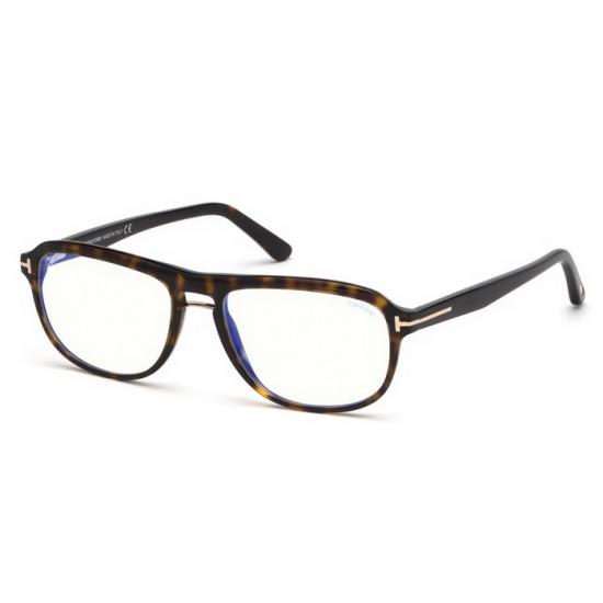 Tom Ford FT 5538-B - 052 Avana Oscura   Occhiale Da Vista Uomo