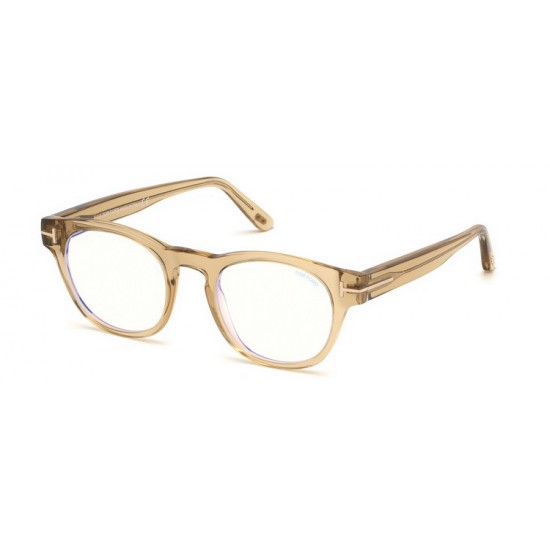 Tom Ford FT 5543-B - 045 Lucido Marrone Chiaro | Occhiale Da Vista Unisex