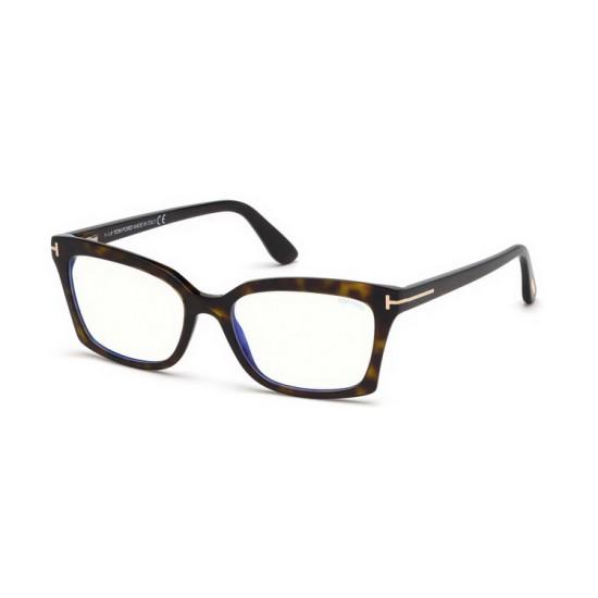 Tom Ford FT 5552-B - 052 Avana Oscura   Occhiale Da Vista Donna