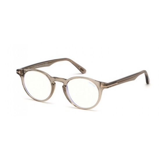 Tom Ford FT 5557-B - 045 Lucido Marrone Chiaro | Occhiale Da Vista Unisex