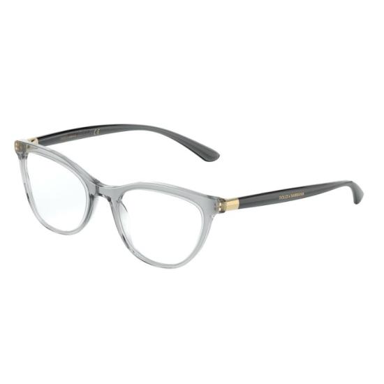 Dolce & Gabbana DG 3324 - 3238 Grigio Trasparente | Occhiale Da Vista Donna