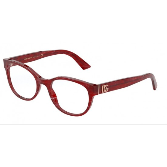 Dolce & Gabbana DG 3327 - 3252 Marmo Bordeaux | Occhiale Da Vista Donna
