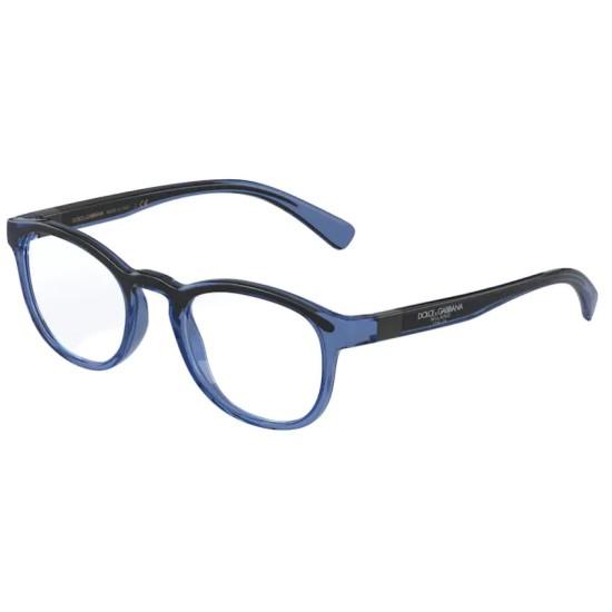 Dolce & Gabbana DG 5049 - 3258 Blu / Nero Trasparente   Occhiale Da Vista Uomo