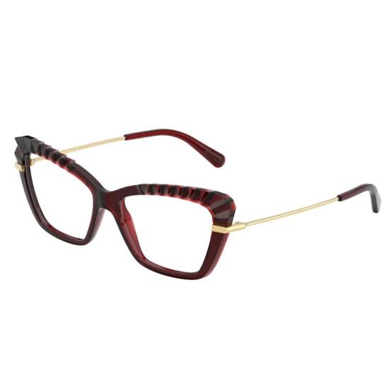 Dolce & Gabbana DG 5050 - 550 Rosso Trasparente   Occhiale Da Vista Donna