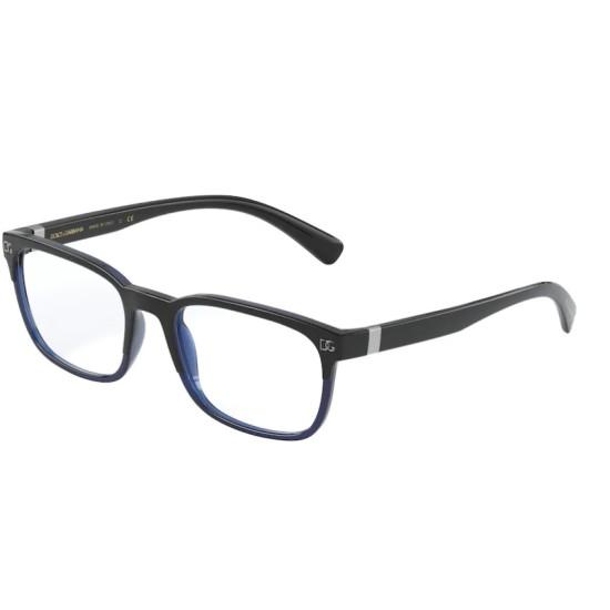 Dolce & Gabbana DG 5056 - 3276 Top Nero Su Blu | Occhiale Da Vista Uomo