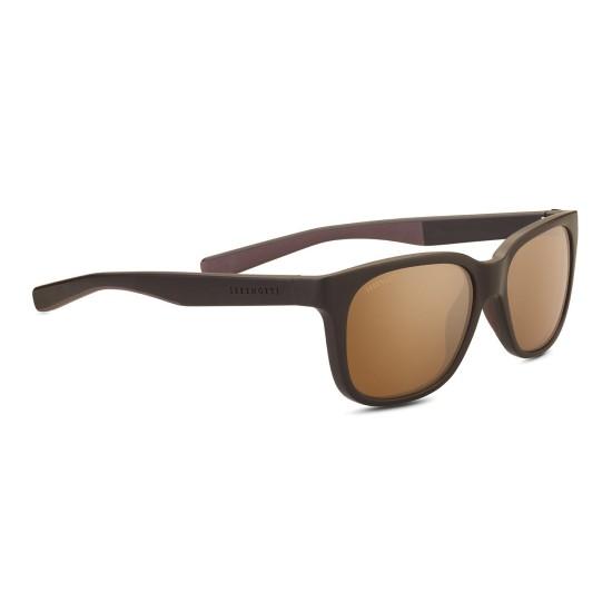 Serengeti EGEO - 8680 Sabbiato Marrone / Marrone Scuro   Occhiale Da Sole Unisex